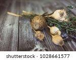 Dry Poppy Head In A Bouquet Of...