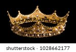a king or queen's golden crown | Shutterstock . vector #1028662177