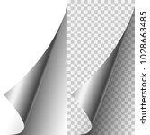 vector silver metallic... | Shutterstock .eps vector #1028663485