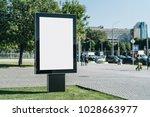 vertical blank glowing... | Shutterstock . vector #1028663977