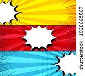 comic book horizontal banners... | Shutterstock .eps vector #1028665867