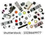 top view of retro camera and... | Shutterstock . vector #1028669977