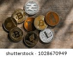 family of cryptocurrency. stack ...   Shutterstock . vector #1028670949