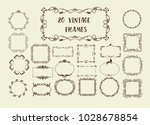 set of vector vintage... | Shutterstock .eps vector #1028678854