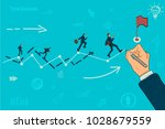 path to the goal. businessman...   Shutterstock .eps vector #1028679559