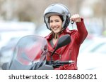 Happy Motorbiker Showing Keys...