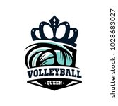 volleyball queen logo vector   Shutterstock .eps vector #1028683027