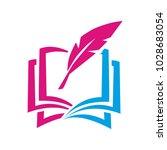 book pen logo   Shutterstock .eps vector #1028683054