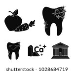 a tooth with brilliant... | Shutterstock .eps vector #1028684719
