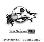 banner the inscription soccer... | Shutterstock .eps vector #1028692867
