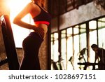 healthy people workout and... | Shutterstock . vector #1028697151