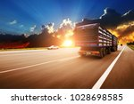 rear view of the big truck... | Shutterstock . vector #1028698585