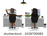 two business man and woman... | Shutterstock .eps vector #1028700085