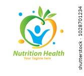 nutrition fruit logo | Shutterstock .eps vector #1028701234