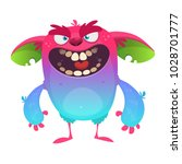 cartoon angry monster character.... | Shutterstock .eps vector #1028701777