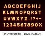 font lamp symbol  gold letter... | Shutterstock .eps vector #1028703604