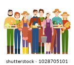 farmer workers people character ... | Shutterstock .eps vector #1028705101