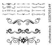 text separator decoratice...   Shutterstock .eps vector #1028705149