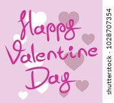 happy valentine day vector... | Shutterstock .eps vector #1028707354