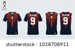 orange  blue t shirt sport... | Shutterstock .eps vector #1028708911