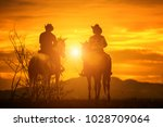 Silhouette Cowboy On...