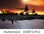 fossil fuel power station coal... | Shutterstock . vector #1028711911