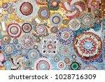 art mosaic glass on the wall ... | Shutterstock . vector #1028716309