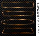 gold shining frames. set of... | Shutterstock .eps vector #1028724121