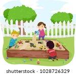 illustration of stickman kids... | Shutterstock .eps vector #1028726329