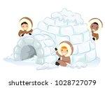 illustration of stickman kids... | Shutterstock .eps vector #1028727079