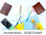 travel accessories costumes... | Shutterstock . vector #1028731669