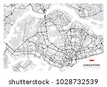 singapore country map outline | Shutterstock .eps vector #1028732539