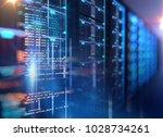 server room 3d illustration...   Shutterstock . vector #1028734261