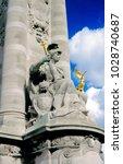 statue on the alexandre ii... | Shutterstock . vector #1028740687