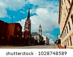 a view from nashville downtown | Shutterstock . vector #1028748589
