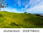 mt eden crater and view to... | Shutterstock . vector #1028748631