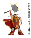 norse mythology thor god of... | Shutterstock .eps vector #1028756929