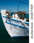 Bow Of Small Fishing Boat In A...