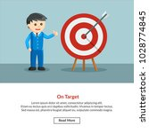 on target job information  | Shutterstock .eps vector #1028774845