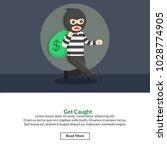 get caught job information | Shutterstock .eps vector #1028774905