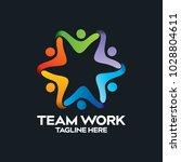 social network team partners... | Shutterstock .eps vector #1028804611