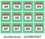 month name in calendar  flat...
