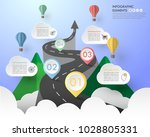 road way infographic template 4 ... | Shutterstock .eps vector #1028805331