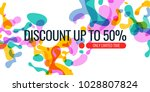 bright colored banner sale with ... | Shutterstock .eps vector #1028807824