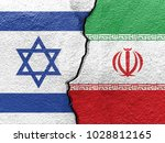 flags of israel and iran... | Shutterstock . vector #1028812165