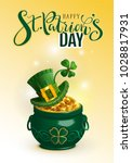 happy st. patrick's day text... | Shutterstock .eps vector #1028817931