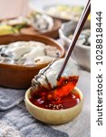 oysters on the table | Shutterstock . vector #1028818444