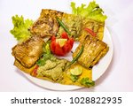spicy baked indian bengali... | Shutterstock . vector #1028822935