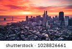san francisco skyline with... | Shutterstock . vector #1028826661