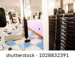 equipment and machines at the... | Shutterstock . vector #1028832391